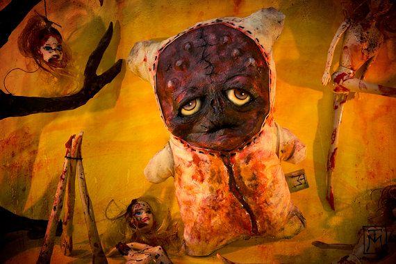 Creepy Cute Horror Gore Monster Art Doll by TalissaMehringer