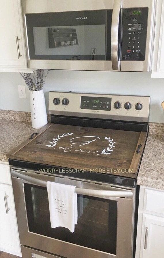 Description Personalized Stove Top Cover Personalized Wooden Stove Top Tray In Your Choice