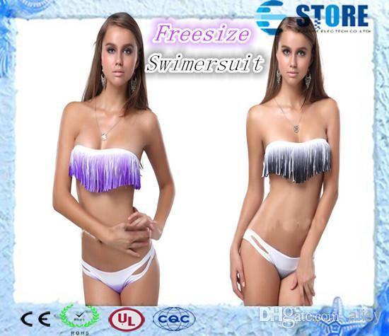 -Top Quality Rainbow Boho Fringe Swimsuit Pad Stripe Swimwear Bandage Tassels Bikini Set-J US $990.00 /lot (100 sets/lot) Specifics GenderWomen Item TypeBikinis Set is_customizedYes Pattern TypeStriped WaistLow Waist MaterialSpandex Color StyleGradient Model NumberE-store DecorationRuffle Type5Bikinis Set  Click to Buy :http://goo.gl/t9O329
