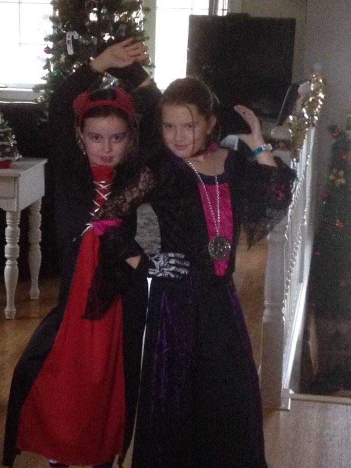Me and my friend Tegan 2 weeks after halloween