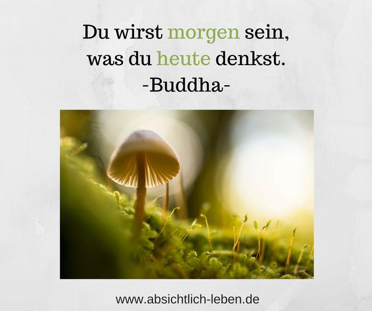Du wirst morgen sein, was du heute denkst - Buddha - absichtlich-leben.de