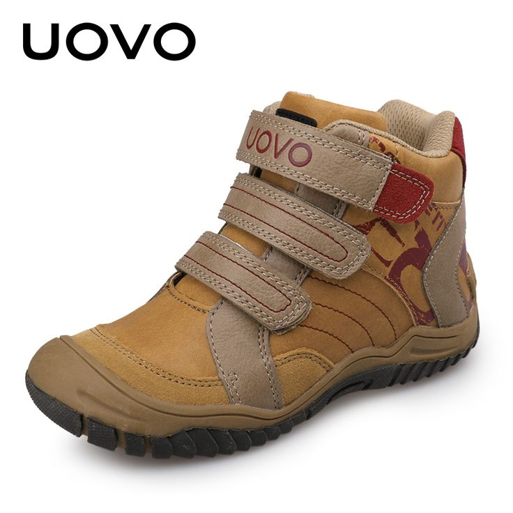 Nice 2017 UOVO New Arrival Mid-Cut Children Boys Sport Shoes Outdoor Shoes Casual Sneaker for Boys Size 28-36 2 colors - $ - Buy it Now!