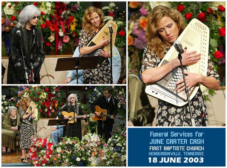 Sheryl Crow & Emmylou Harris @ June Carter Cash Funeral
