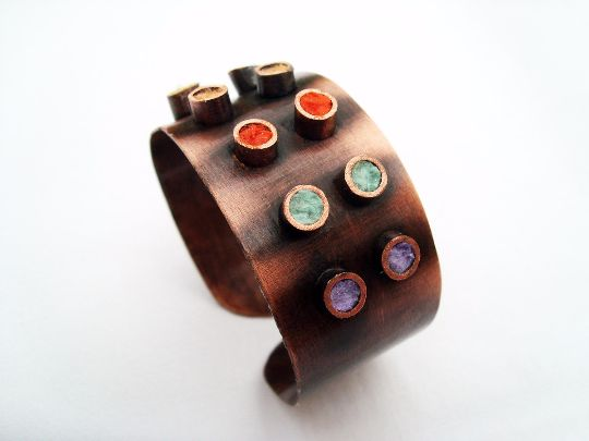 Wristbands     – Pricker. handmade copper cuff bracelet – a unique product by LydiaRED on DaWanda