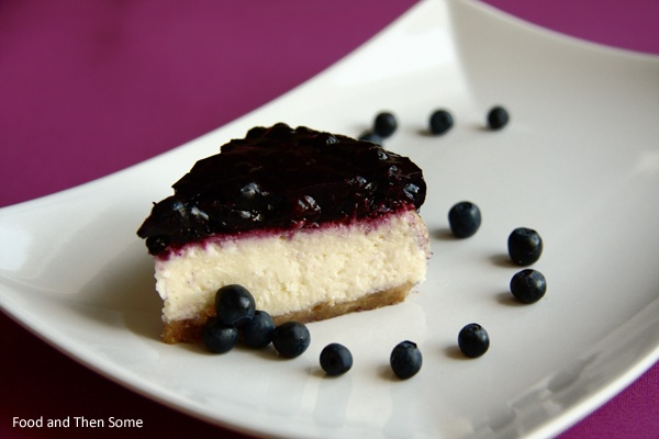 New York Cheesecake w/ Blueberry Sauce