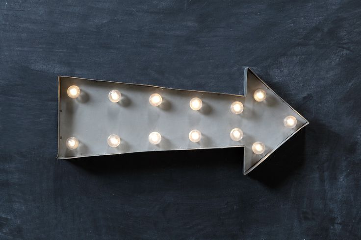 Arrow metal zinc LED Marquee light is battery powered with 2AA batteries making it totally portable.