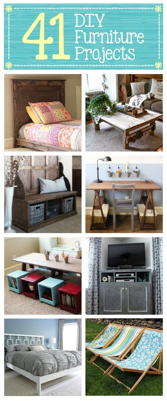 41 DIY Furniture Projects — Build your own furniture from scratch #crafts #diy