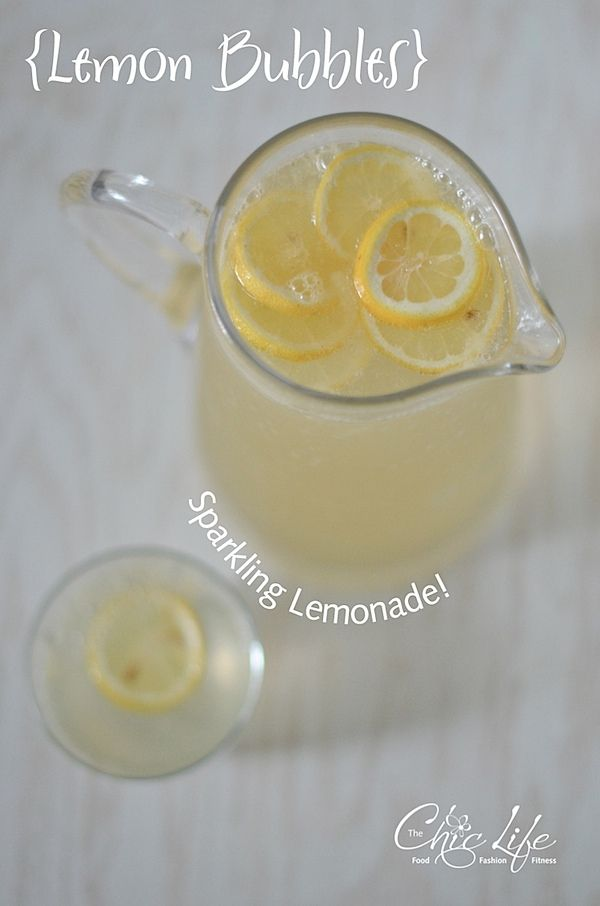 Refreshing Lemon Bubbles - Sparkling Lemonade - {Recipe} - The Chic Life