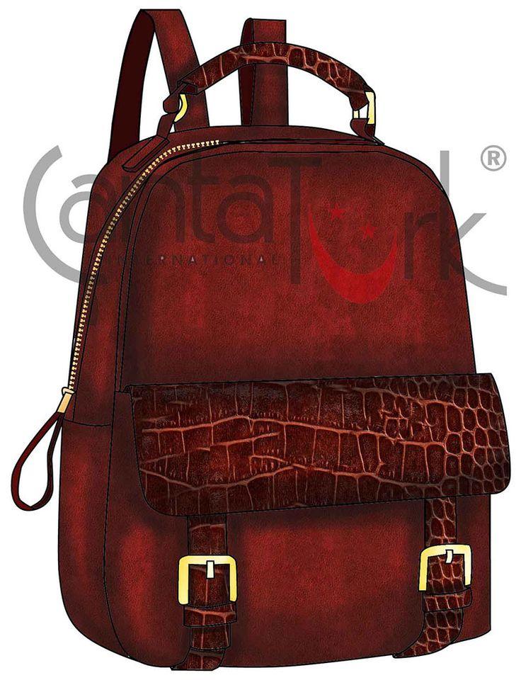 Claret red backpack