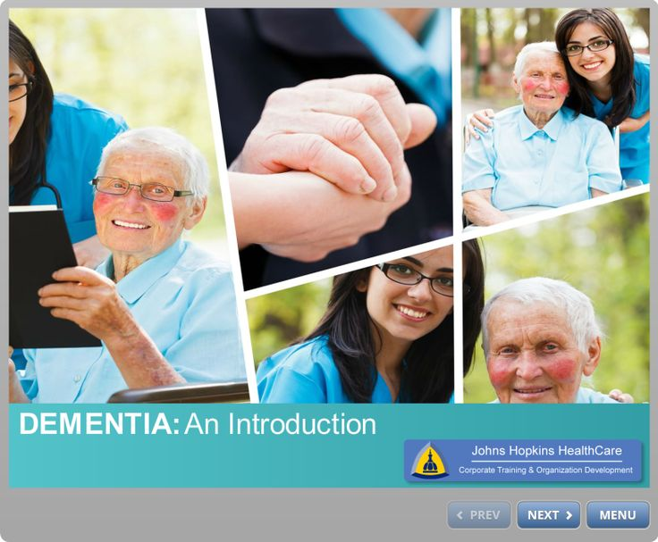 Landing page from Introduction to Dementia course.