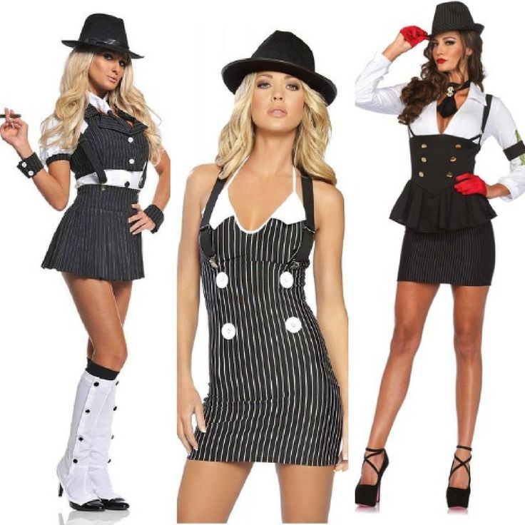 Gangster Halloween Costumes for Women