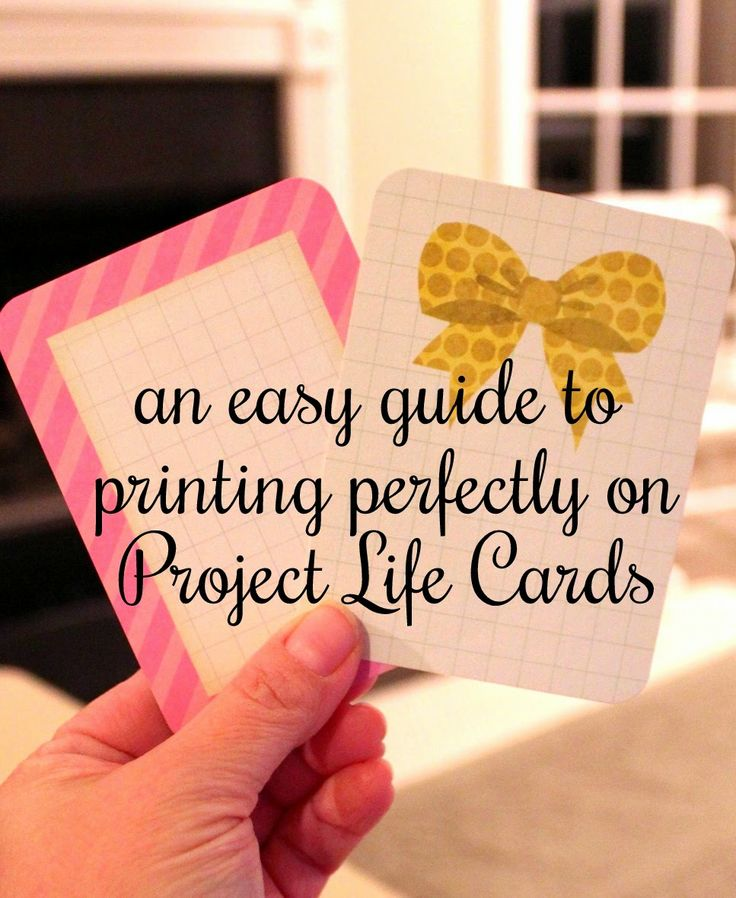 step-by-step photos for perfect printing on Project Life cards using MICROSOFT WORD