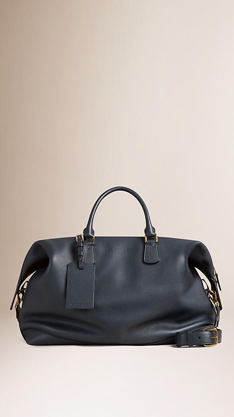 Burberry Large Leather Duffle Bag