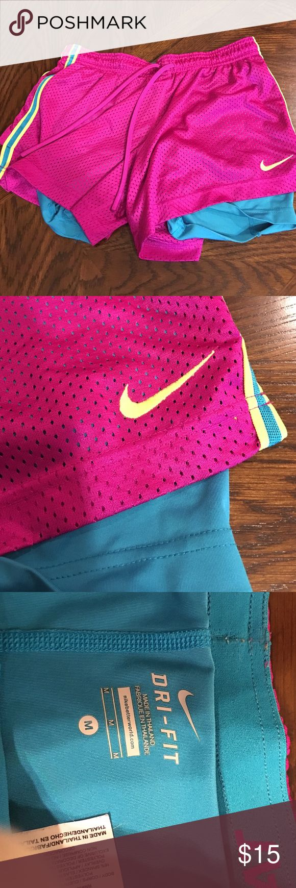 Women's Nike Shorts Womens Nike shorts. Attached spandex Nike Shorts