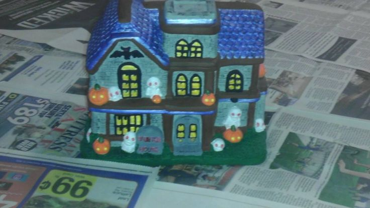 Ceramic Haunted House I Painted My Creations Pinterest