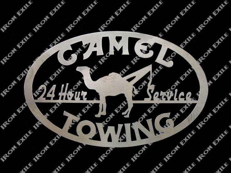 Camel Towing Funny Metal Garage Shop Plasma Cut Out Wall Art Tow Truck Mancave