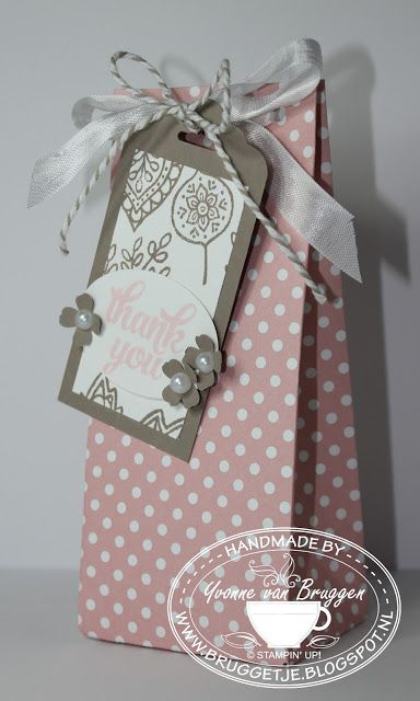Yvonne is Stampin' & Scrapping: Stampin' Up! Gift Bag Punch Board #stampinup
