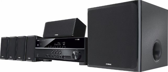Yamaha - 650W 5.1-Channel 3D Home Theater System - Black - Front Zoom