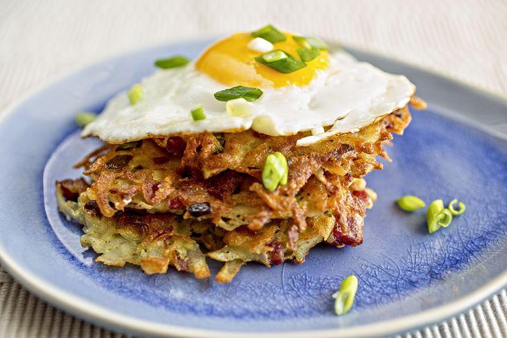 "Venison recipes: potato pancakes with smoked venison ""ham"""