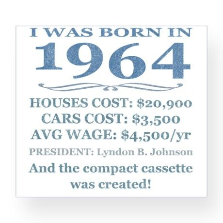 Birthday Facts-1964 Wine Label on CafePress.com