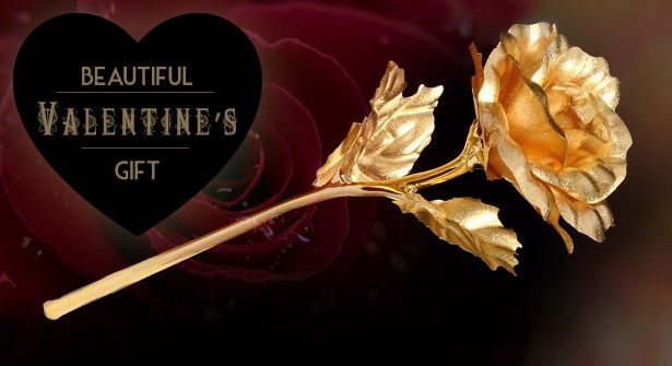 Stuck for #ValentinesDay gift ideas?How about a real rose preserved in pure 24 carat gold...