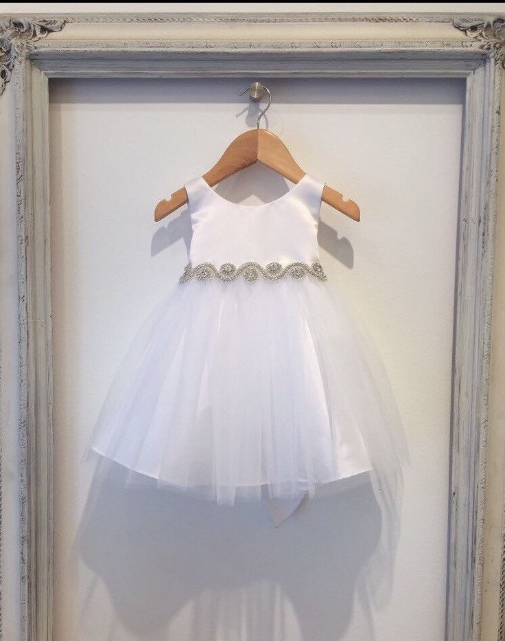 Baby Girl Christening Dress Baby Baptism Dress White baby dress white baptism dress Tulle baby dress baby girl easter dress first birthday by BabyGalore0 on Etsy