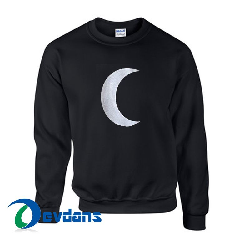 Cresent Moon Cheap Sweatshirt, Cheap Sweater Unisex Adults