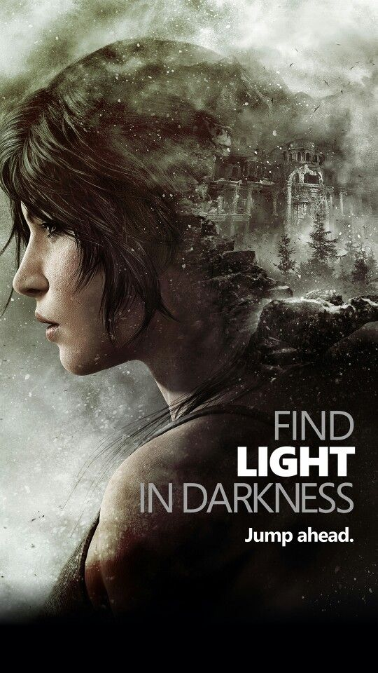Lara Croft Find Light In Darkness phone wallpaper