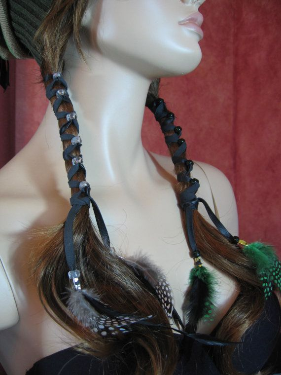 Hey, I found this really awesome Etsy listing at https://www.etsy.com/listing/111217257/1-boho-feather-headband-hair-extension