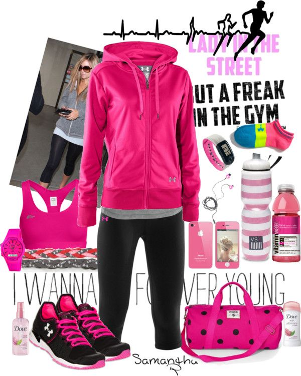 """'Lady in the Street , Freak in the Gym'"" by samantha-edlin on Polyvore"
