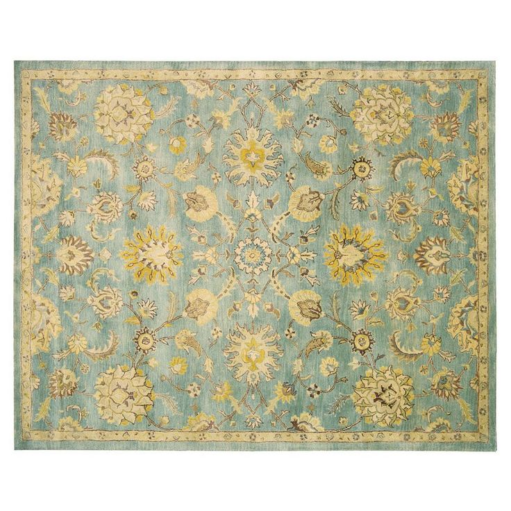 Nourison Jaipur Traditional Framed Floral Wool Rug, Blue