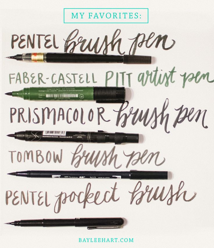 my favorite brush pens for hand lettering and a few tips With hand lettering pens for beginners