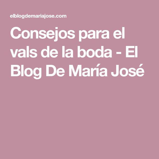 Consejos para el vals de la boda - El Blog De María José