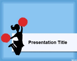 Cheerleader PowerPoint Template is a free PowerPoint template with blue background and a cheerleader image on top of the slide design