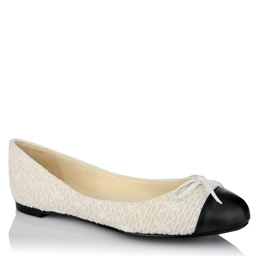 Charles and Keith Romantic Choice lace-covered ballerina flats <3