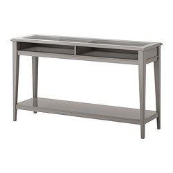 IKEA - LIATORP, Console table, grey/glass, , Can be placed behind a sofa, along a wall, or be used as a room divider.