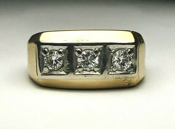 Estate 10kp Yellow Gold Diamond Band Ring Size 8 417 36tw Ldi 417 Free Us Ship Ldi Band Diamond Bands Diamond Rings Bands Gold Diamond Band