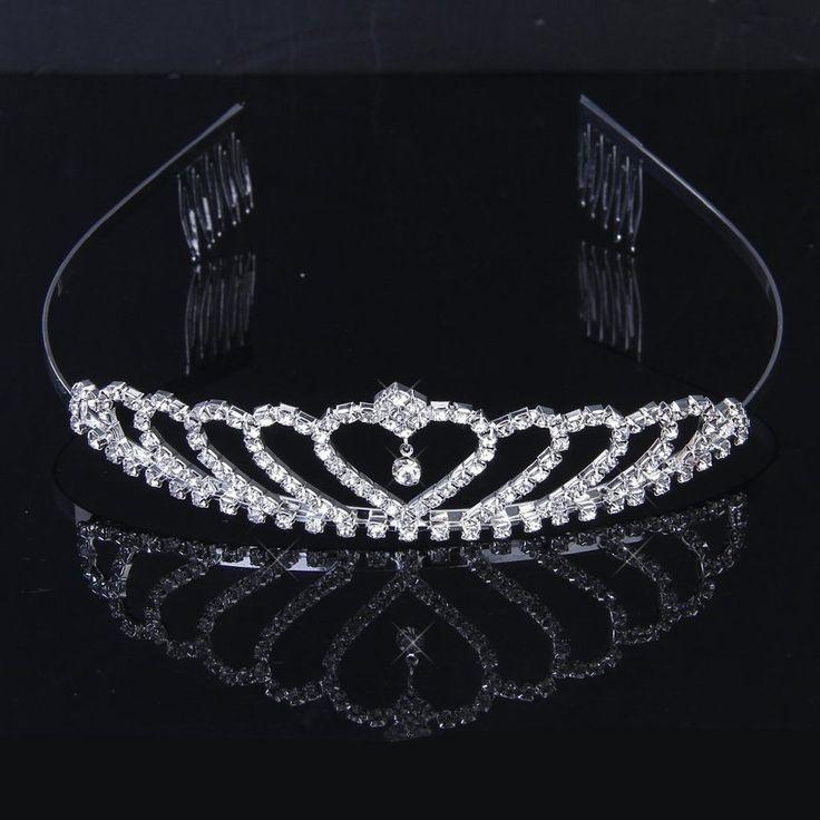 #Tinksky - #Tiara con #strass, in lega di colore #argento