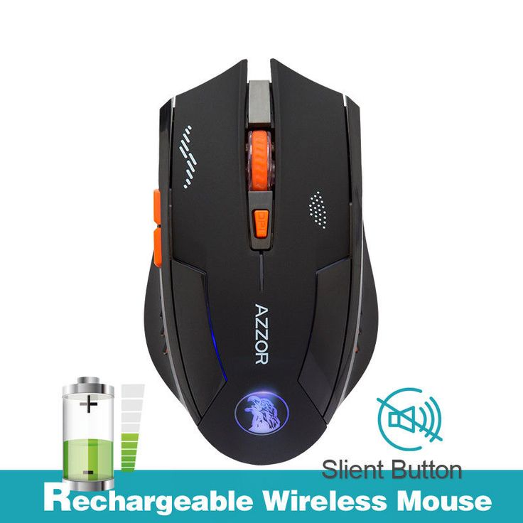 2.4GHz Wireless Rechargeable 2400DPI X3 6 Button Optical Usb Mouse For PC Laptop #AZZOR #3DFingerMini