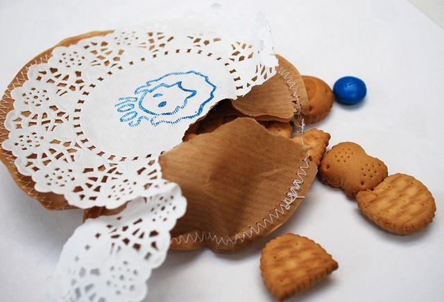 koekjes in een papieren zakje