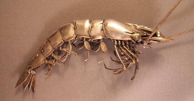 Oleg Konstatinov - Sterling Silver Articulated Shrimp