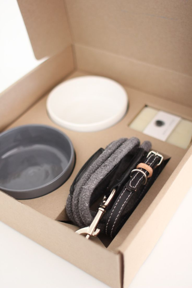 Benji + Moon   Puppy Starter Kit including Ceramic Bowls, Leash, Collar and Natural Shampoo Bar #handcrafted #puppy #kit