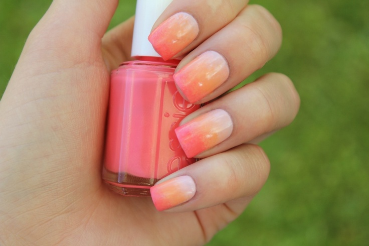 Nails Art, Art Inspiration, Colors Nails, Castles, Gradient Nails, Just Girly Things, Ombre Nails, Coral Nails, Cream