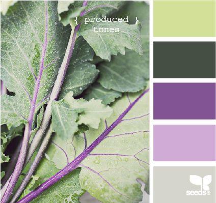 produced tones: Color Palettes, Bathroom Color, Design Seeds, Color Inspiration, Color Combos, Purple, Color Schemes, Green, Colors