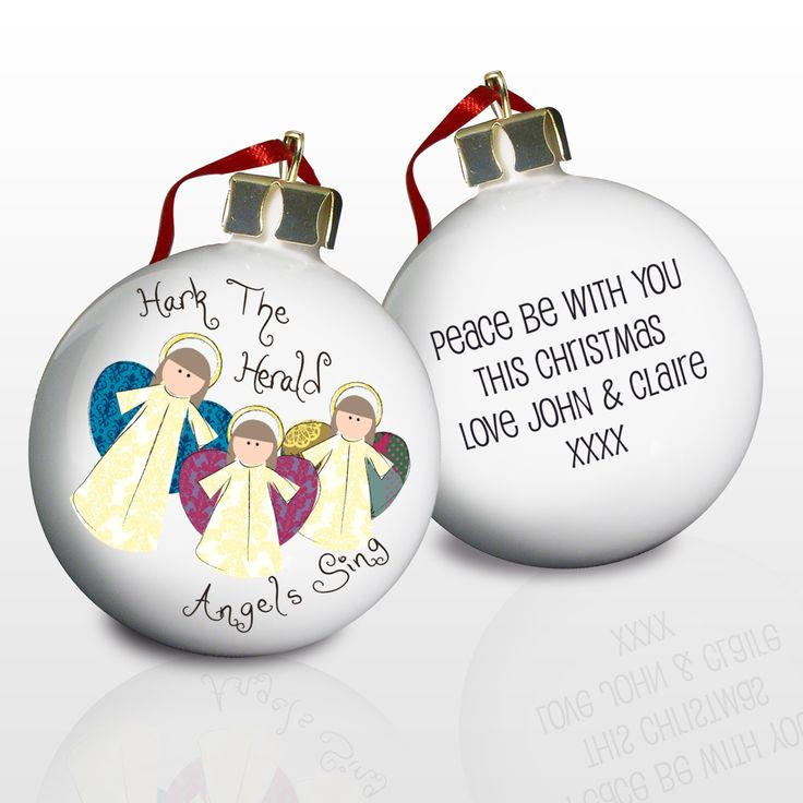 Personalised Nativity Christmas Bauble (Angels)