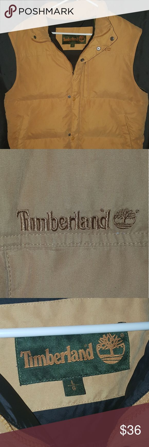 Timberland Puff Vest Mens Large Warm and soft Timberland puff vest with zippers and buttons. Great quality. Fast shipping. Timberland Jackets & Coats Vests