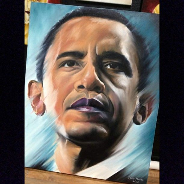 Obama portrait by tattoo artist chris nieves chris for Does obama have a tattoo