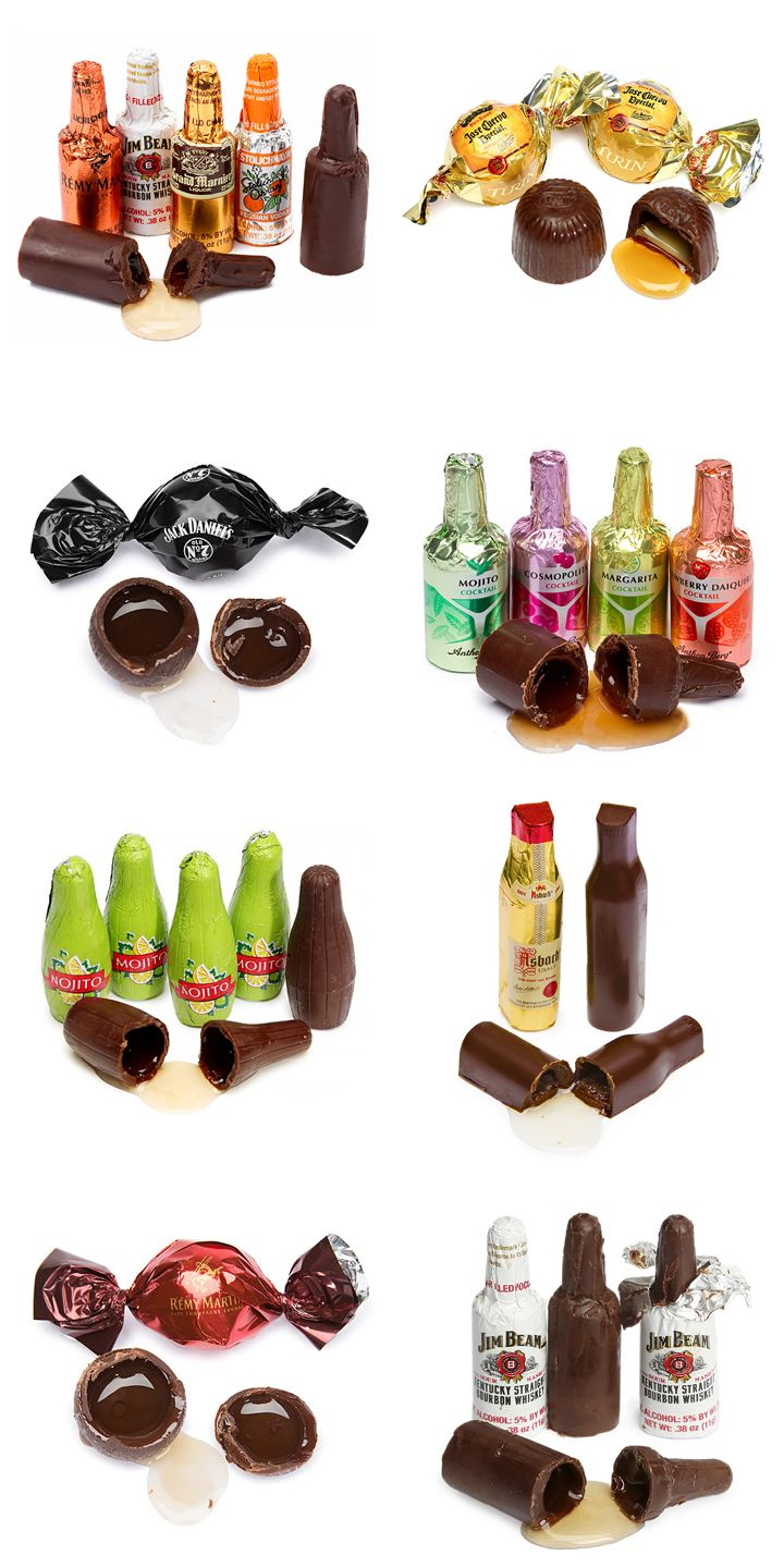 These liquor-filled chocolates are great for cuddling up with in front of the fire, or putting to good use at this year's Christmas party. Not for the kiddies, they contain real liquor from brands like Jack Daniels and Jose Cuervo, sure to take the edge off any winter chill. Check out even more liquor chocolates here: http://www.candywarehouse.com/flavors/liquor-candy/?DepartmentId=64&F_All=Y