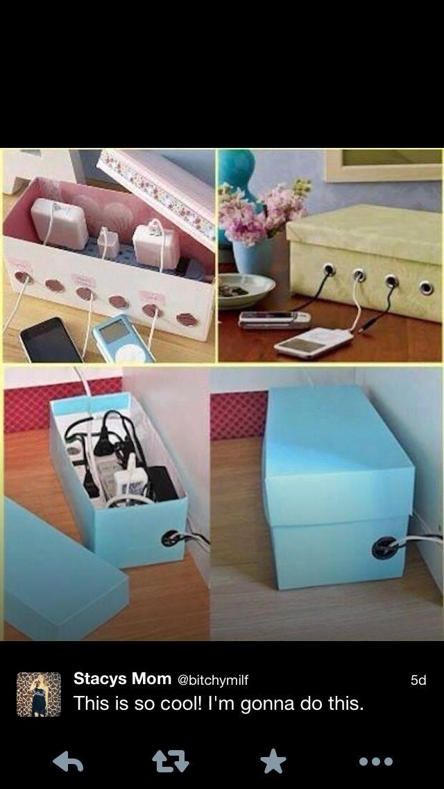 DIY hiding cords & power bars