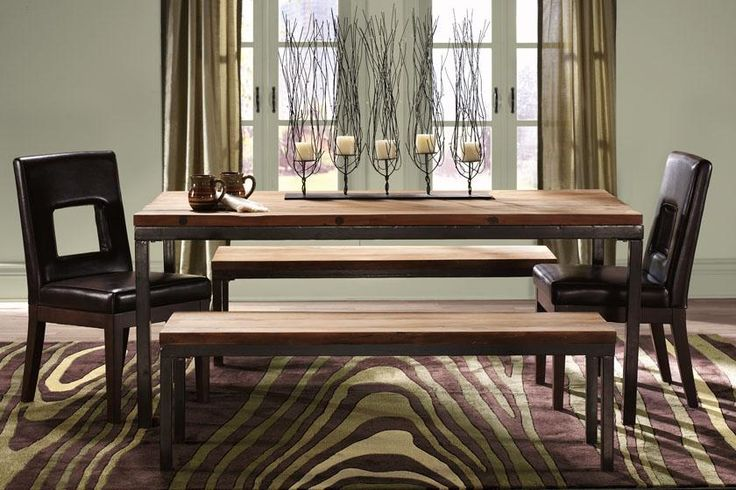 $799 [home decorators collection - holbrook dining table] contemplating this dining room table. benches/chairs not included. LOVE. *